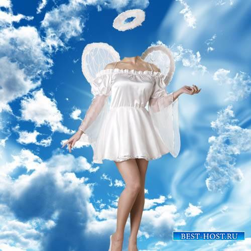 Шаблон psd женский - Девушка ангел