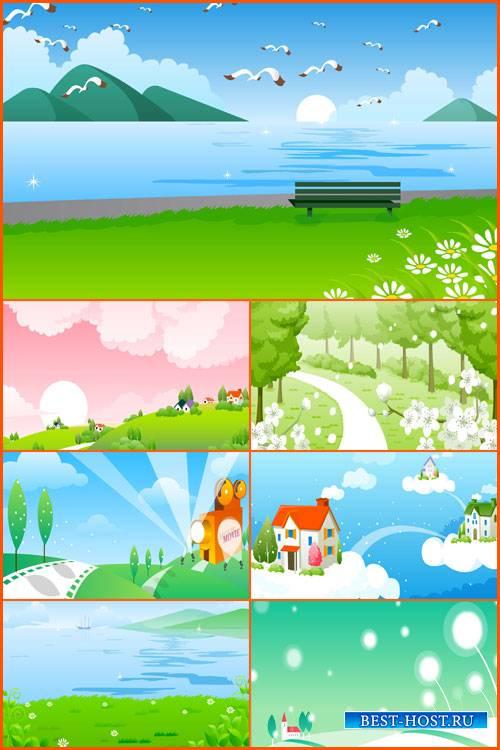 Детские векторные фоны для сайтов 2