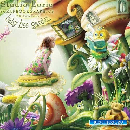 Детский сказочный скрап-комплект - Малышка пчёлка в саду