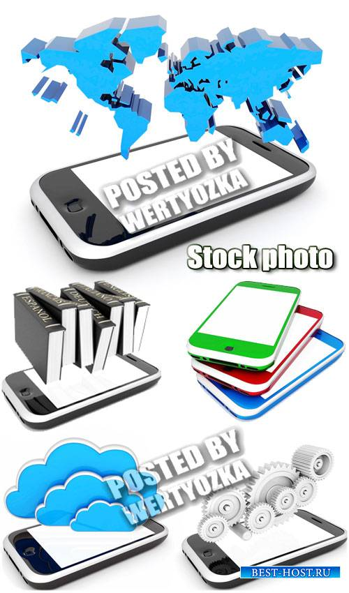 Смартфоны, современные технологии / Smartphones, modern technology - stock photos