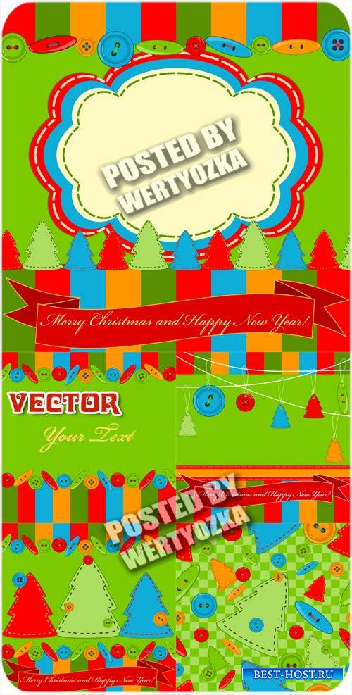 Новогодние фоны с елочками / Christmas background with christmas trees - st ...