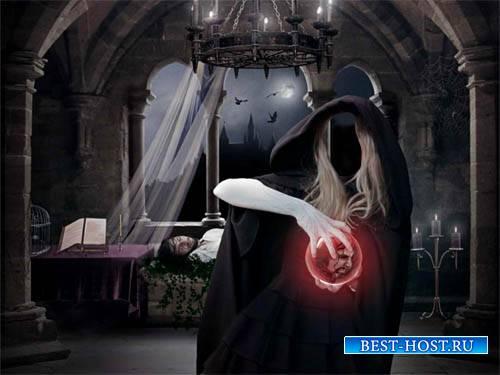 Шаблон для фото - Ведьма в замке