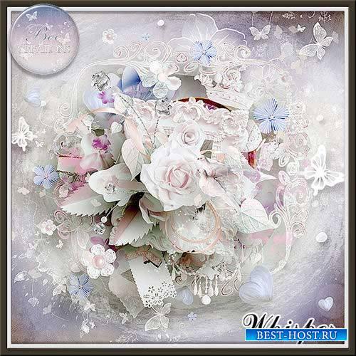 Нежный свадебный скрап-комплект - Шёпот