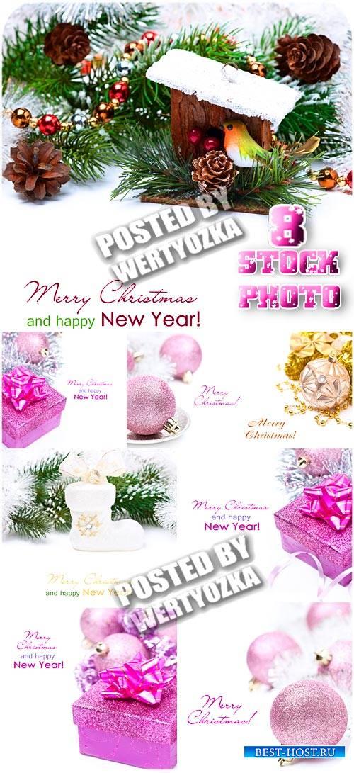 Новый год, праздничные композиции / New Year, holiday compositions - stock photos