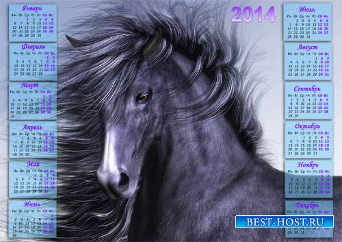 Настенный календарь - Восхитительная лошадь с гривой