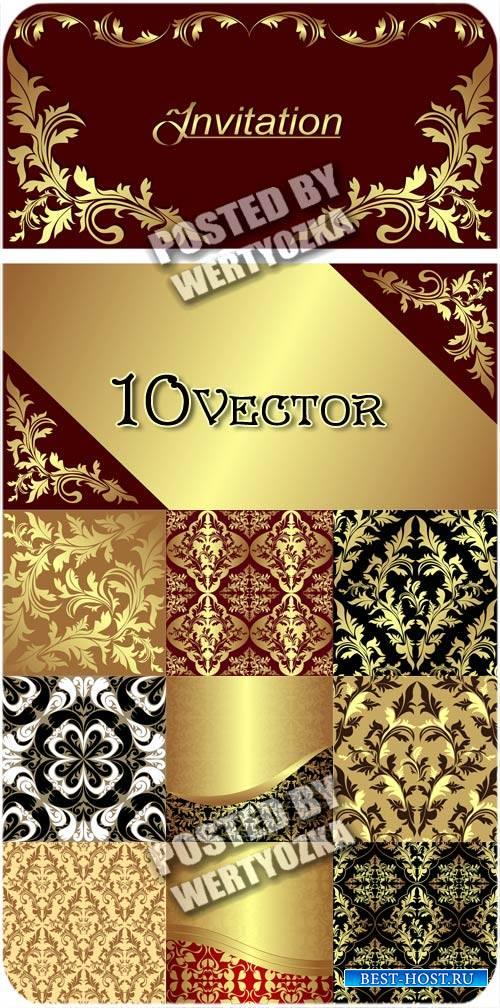 Золотые фоны, узоры, орнаменты / Gold backgrounds, patterns, ornaments - st ...