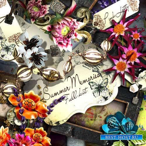 Оригинальный цветочный скрап-комплект - Воспоминания о лете