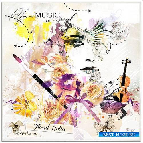 Цветочный скрап-комплект - Цветочные ноты
