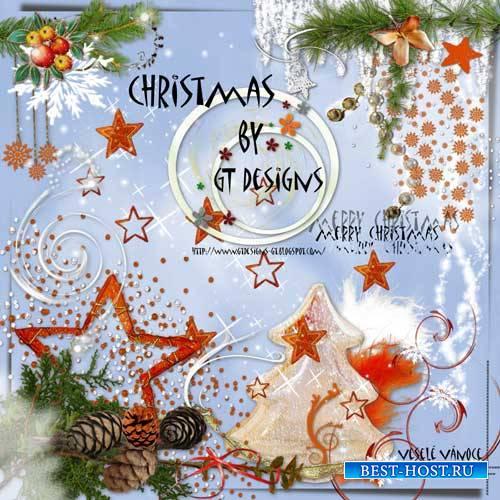 Праздничный рождественский скрап-комплект - С Рождеством
