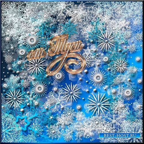Клипарт - Снежинки и снежные фоны