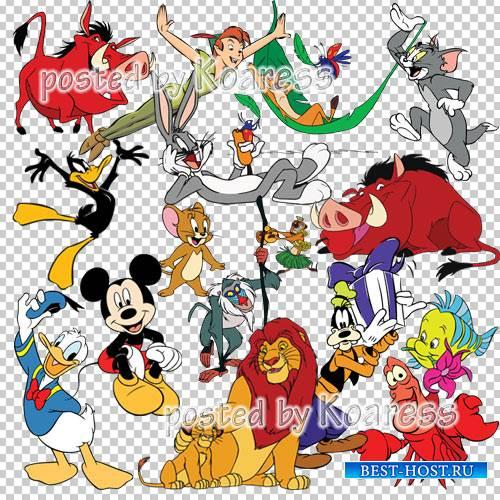 Png клипарт на прозрачном фоне с персонажами мультфильмов Диснея