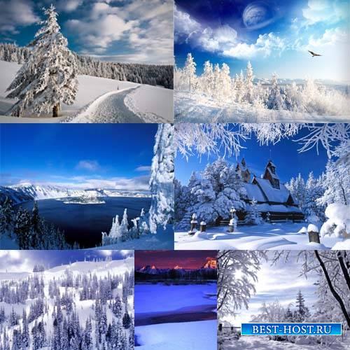 Растровый клипарт - Снежная зима