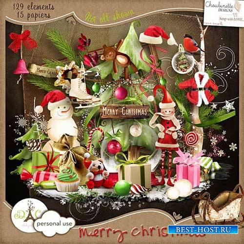 Новогодний скрап-комплект - Весёлого Рождества