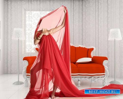 Шаблон для девушек - В красной ткани