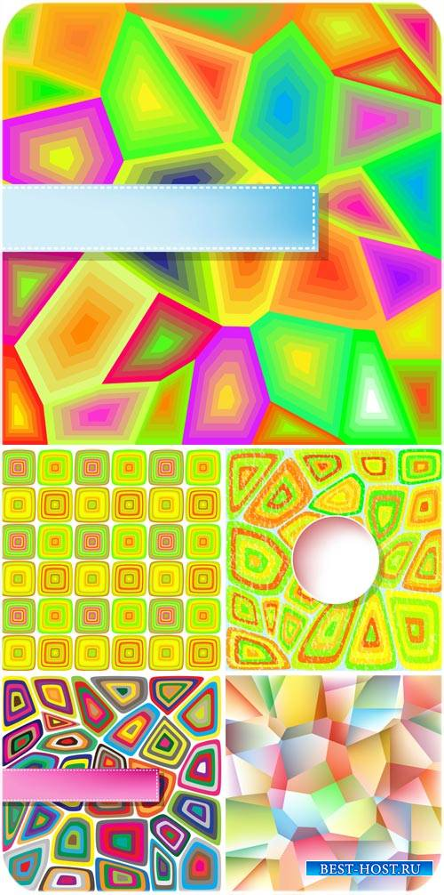 Абстракция, векторные разноцветные фоны