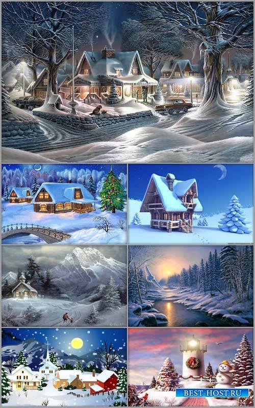 Зимние детские фоны