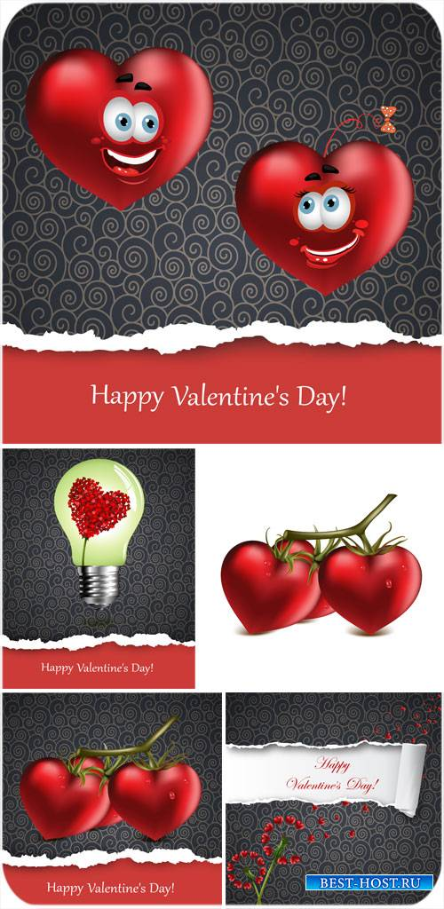 День святого Валентина в векторе, сердечки - креативный вектор