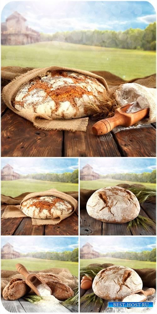 Хлеб, мука, колоски - сток фото