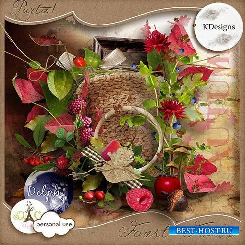 Цветочно-ягодный скрап-комплект - Лесные ягоды часть 1