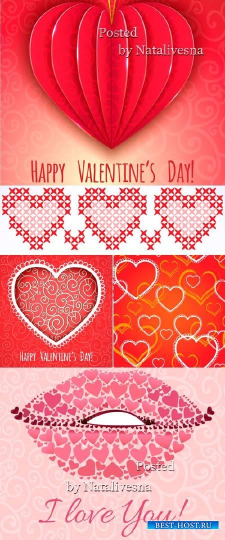 Векторные фоны - День Св.Валентина