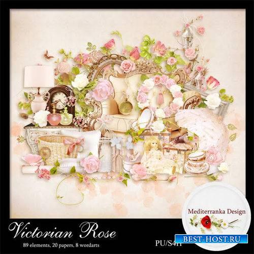 Нежный цветочный скрап-комплект - Викторианская роза