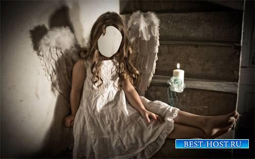 Шаблон для девочек - Девочка ангел с крыльями