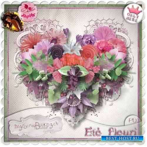 Нежный цветочный скрап-комплект - Летнее цветение
