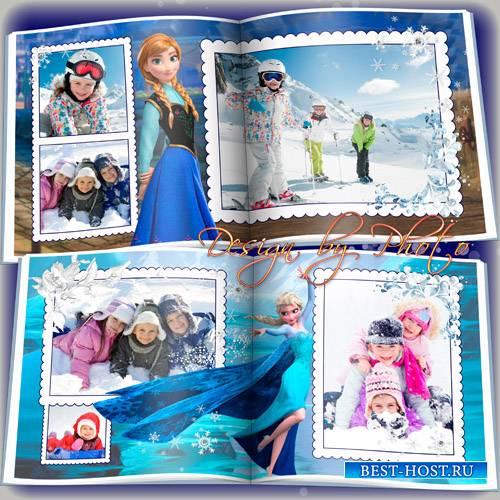Детская фотокнига с героями м/ф Холодное сердце
