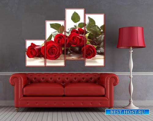Полиптих для фотошопа - Прекрасные розы