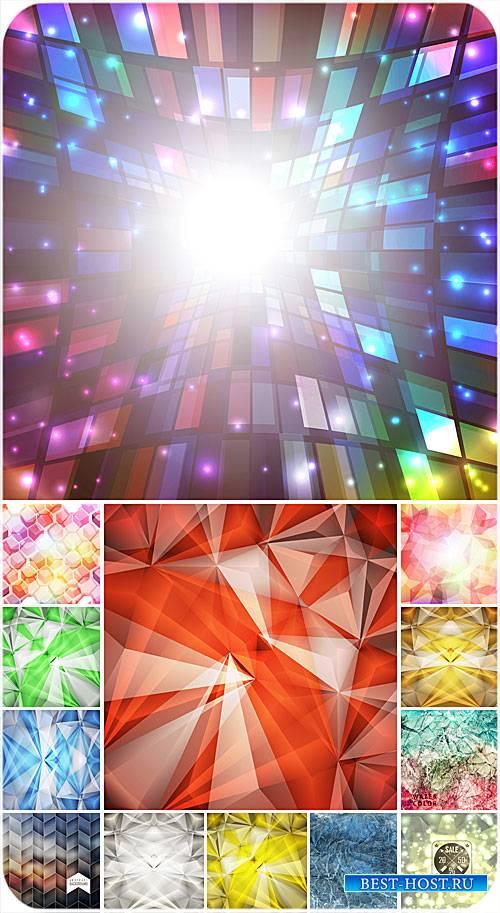 Векторные фоны, абстракция, разноцветные фоны