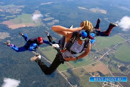 Шаблон для фотошопа  - Первый прыжок