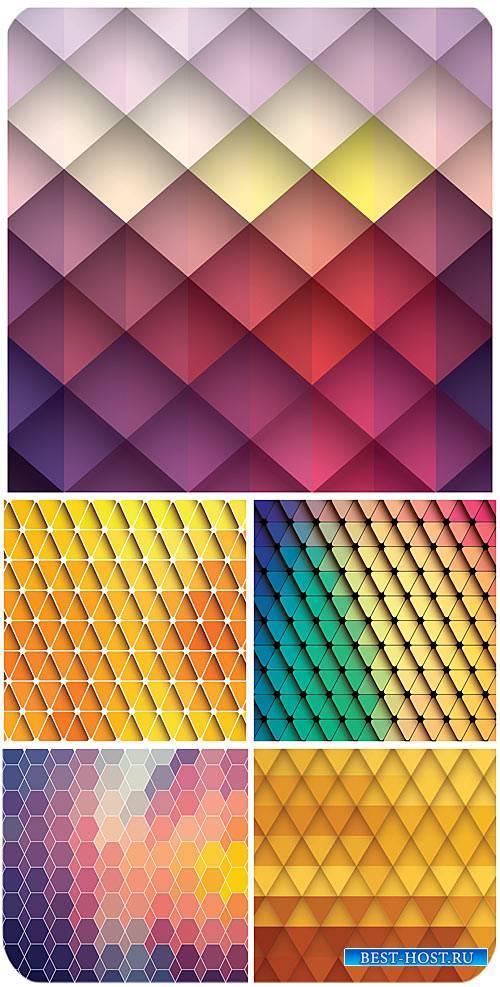 Разноцветные фоны в векторе, цветная абстракция