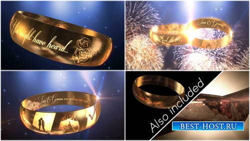 Wedding Ring Invitation - E3D - Project for After Effects (Videohive)