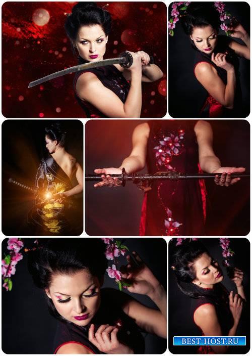 Девушка с мечем, восточная девушка / Girl with a sword, oriental girl - Sto ...