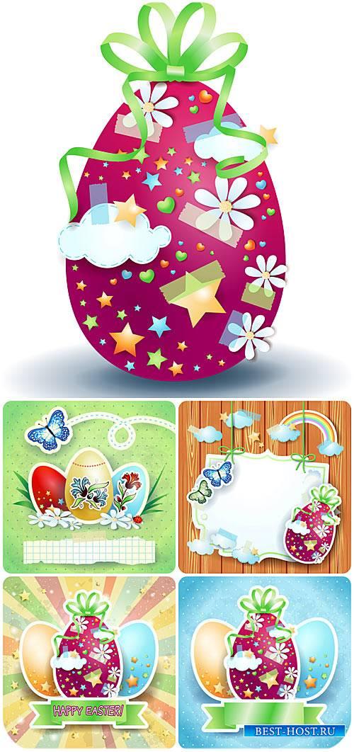 Пасхальный векторный набор, пасхальные яйца / Vector set of Easter, Easter  ...