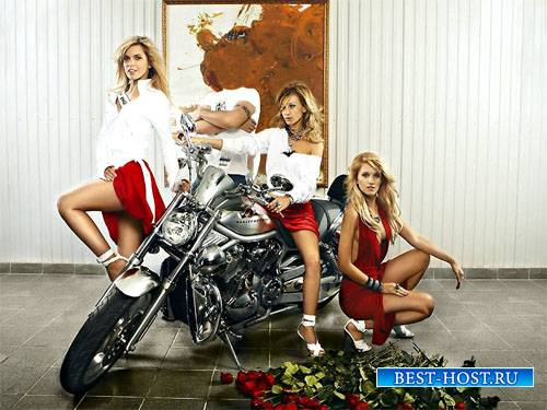 Шаблон для фотомонтажа - Вы и три красивых блондинки с группы Рефлекс