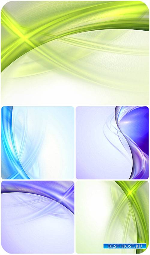 Нежные векторные фоны с цветной абстракцией / Gentle vector backgrounds wit ...