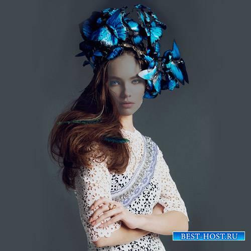 Шаблон для фото - Мисс весна