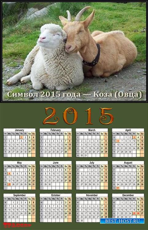 Шуточный Календарь 2015 года - Символ 2015 года овца
