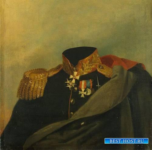 Шаблон psd - Полководец 19 века