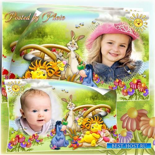 Детская рамка для фото - Пух и его друзья
