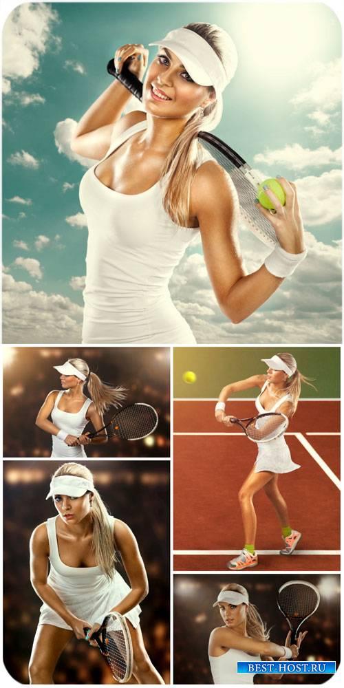 Теннис, спорт, девушка играет в теннис / Tennis, sports, girl playing tenni ...