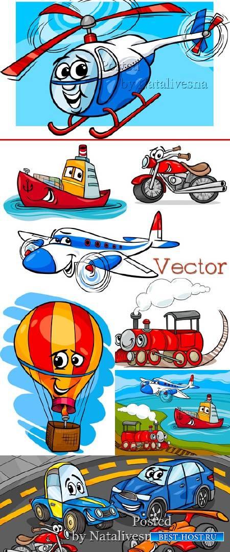 Фоны в Векторе  для малышей с машинками и вертолетами