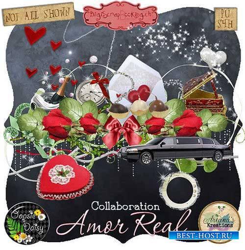 Очаровательный романтический скрап-комплект - Настоящая любовь