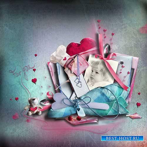 Кулинарный скрап-комплект в романтическом стиле - Любовный рецепт