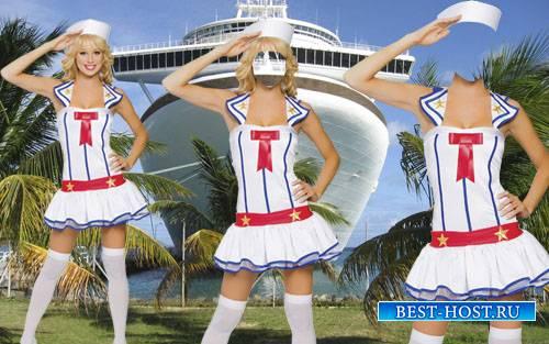 Шаблон для Photoshop - В форме морячки