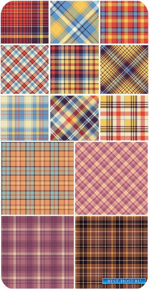 Клетчатые векторные фоны разных оттенков / Checkered vector backgrounds of  ...