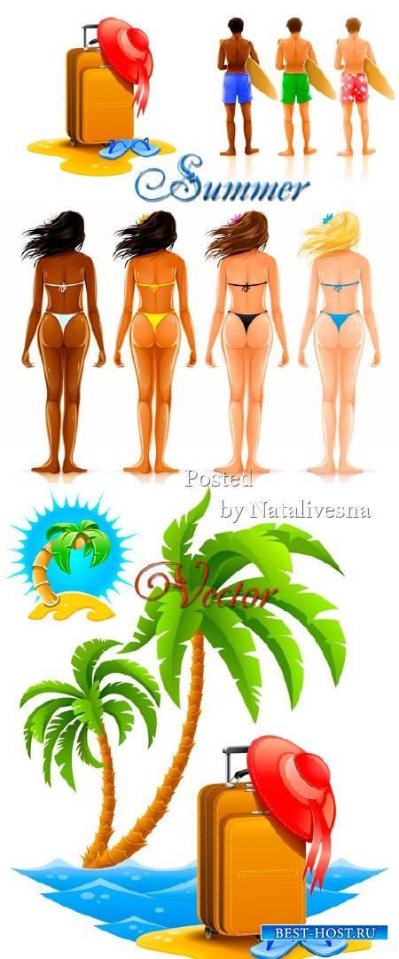 Пальмы, море, загорелые тела в Векторе