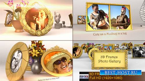 3D Photo Gallery - Project for After Effects (Videohive)