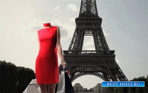Женский шаблон - Прогулка во Франции